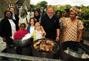 AWAD, African women's group from Manchester, linking with hill farming communities in Lancashire.