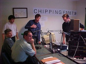 Chipping FM Community Radio pilot, Lancashire 2001. Vet David Black discussing the situation immediately post FMD.