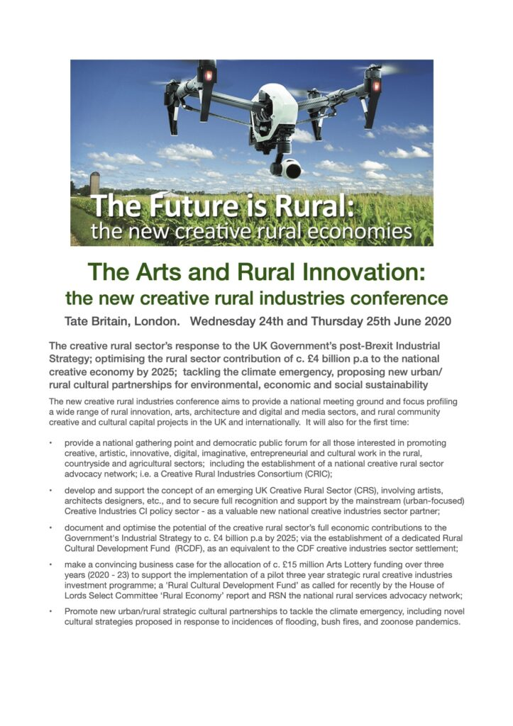 The Arts and Rural Innovation: the new creative and rural industries conference